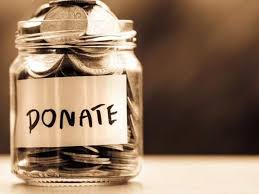 jar of money with donate written on it